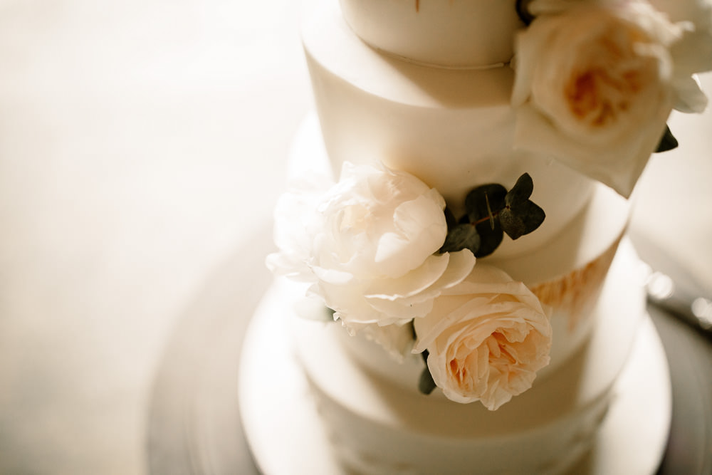 Floral Cake Sugar Flowers Wharfedale Grange Wedding Hayley Baxter Photography