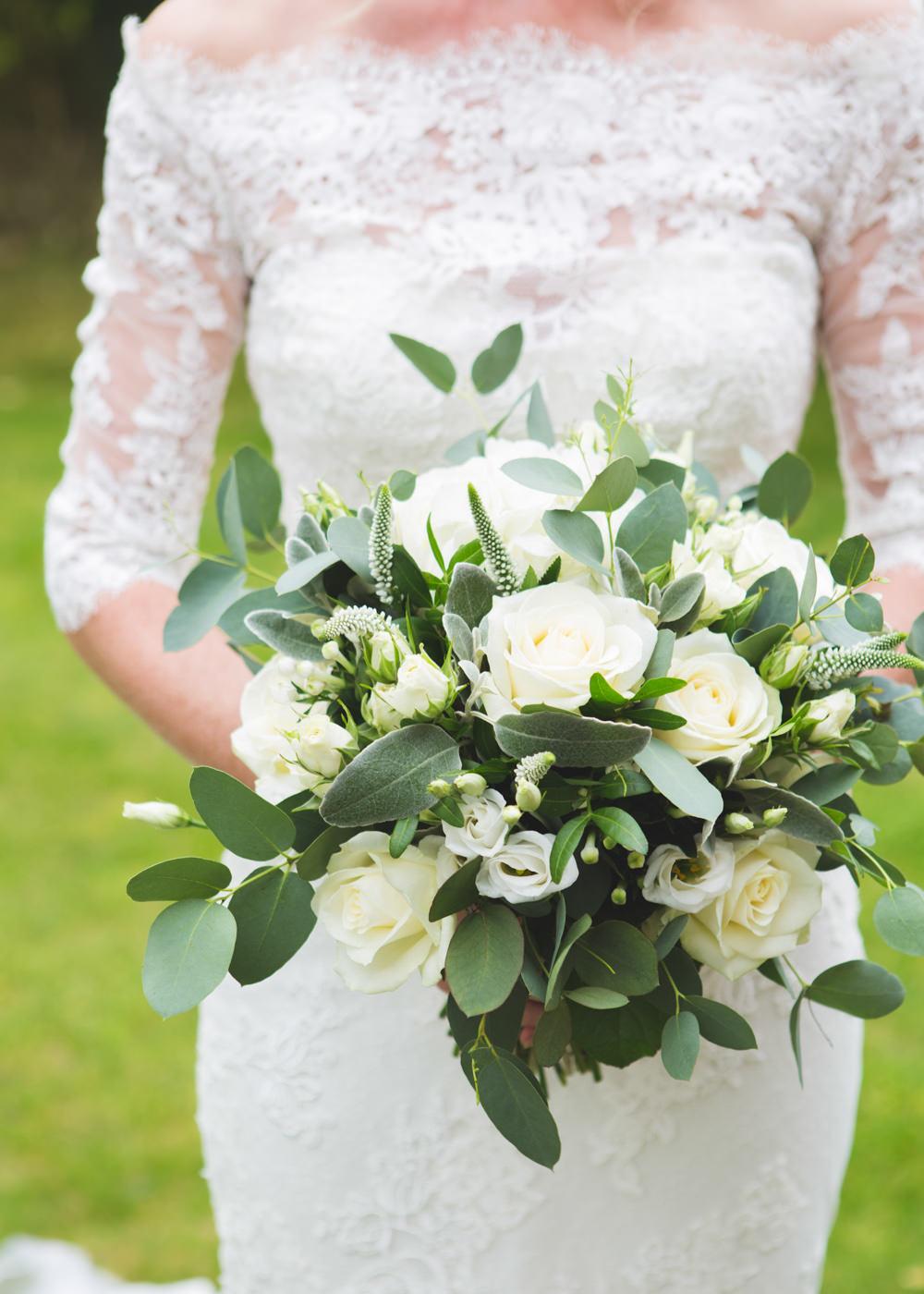 Bouquet Flowers Bride Bridal Greenery Foliage Ivory Rose Airbnb Wedding Pickavance Weddings