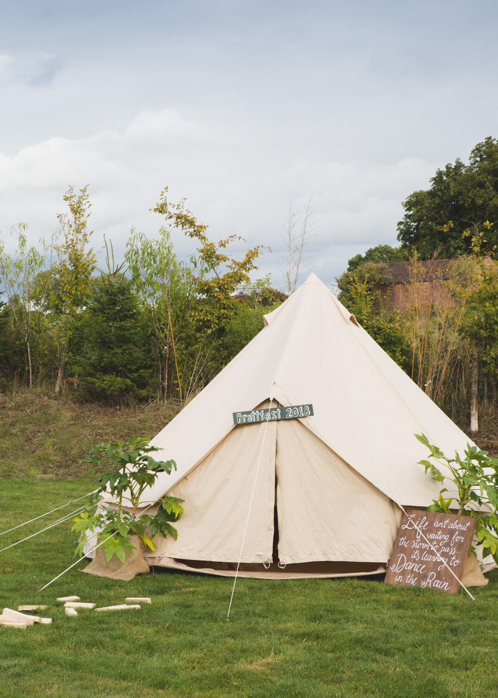 Glamping Tipi Tent Bell Airbnb Wedding Pickavance Weddings