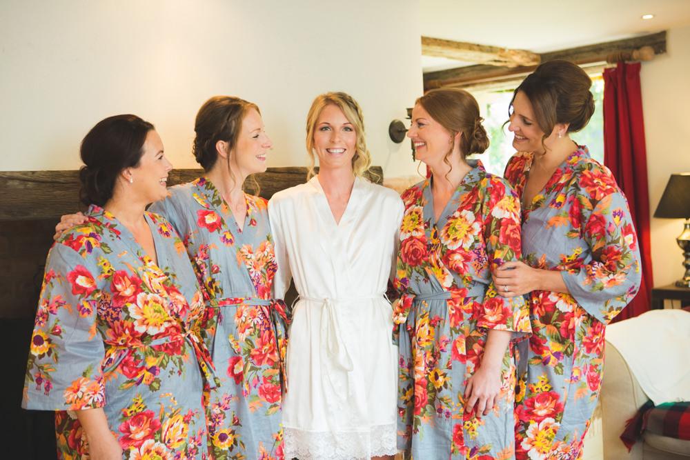 Bride Bridal Bridesmaids Robes Dressing Gowns Airbnb Wedding Pickavance Weddings