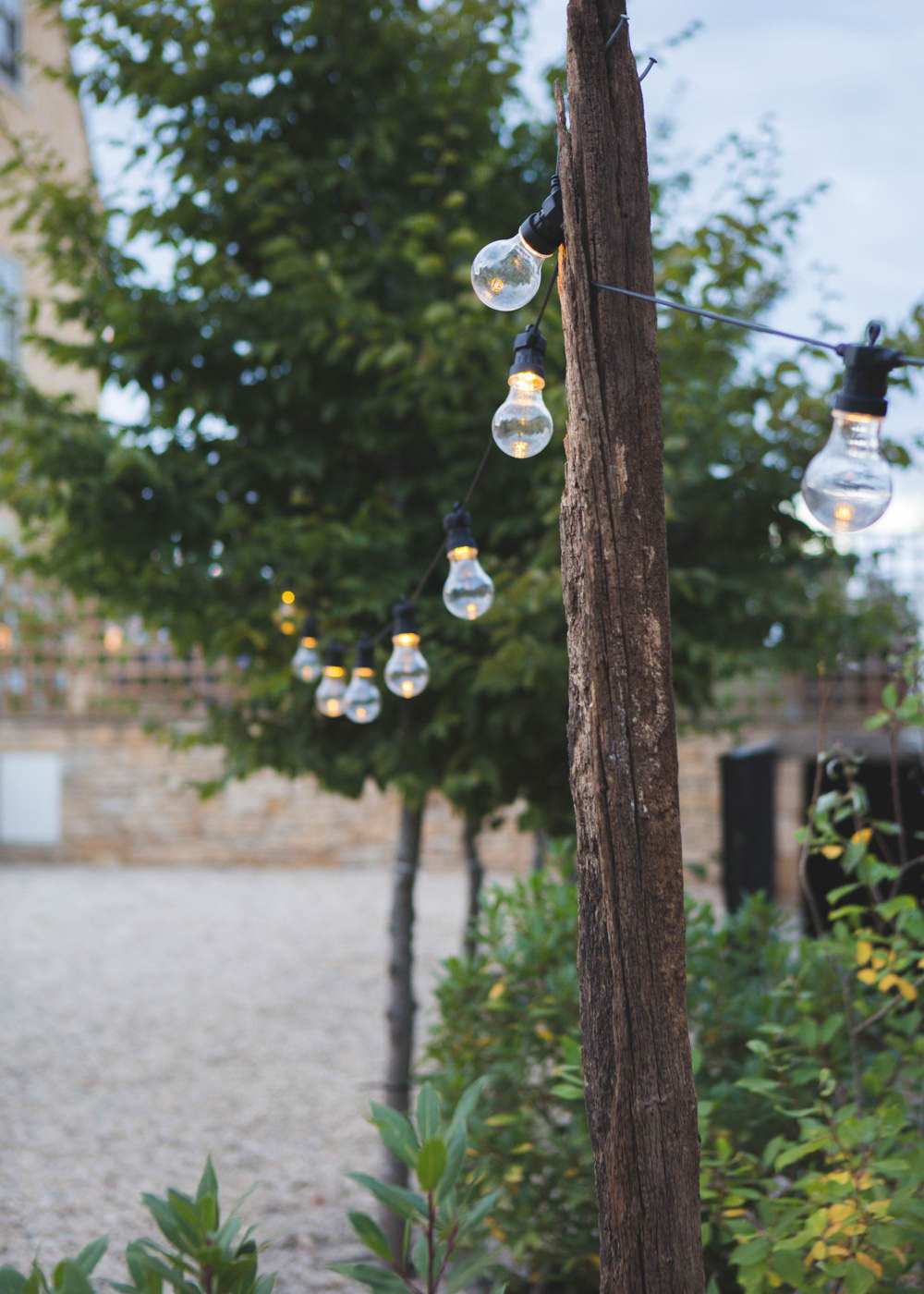 Festoon Lights Airbnb Wedding Pickavance Weddings