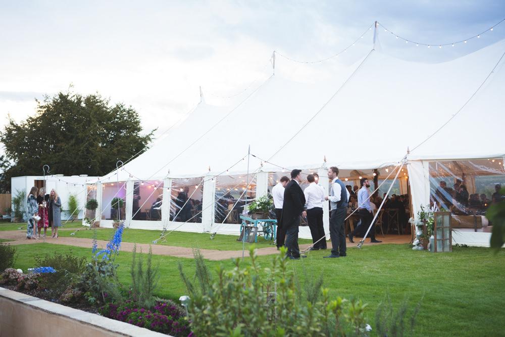 Pole Tent Marquee Airbnb Wedding Pickavance Weddings