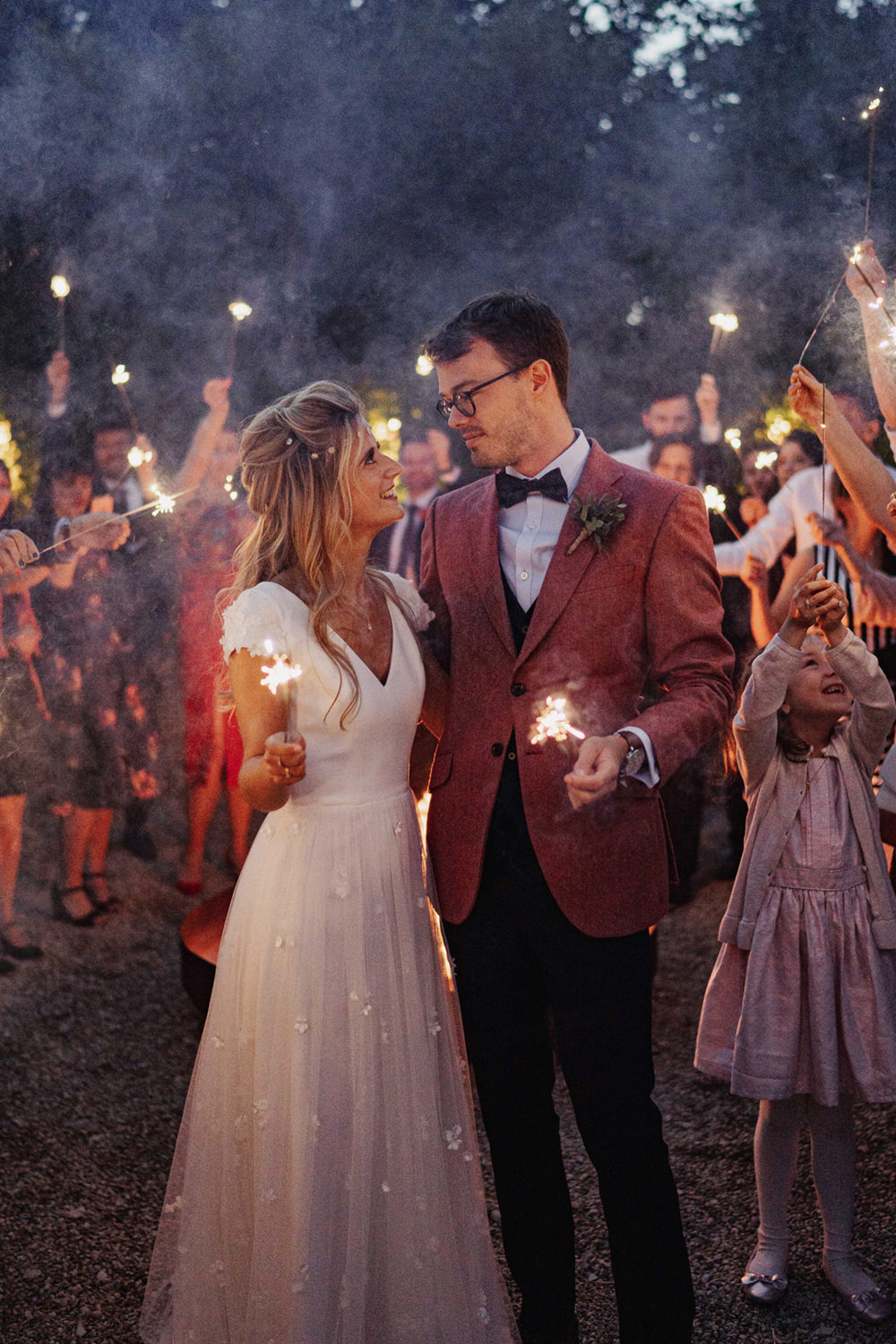 Sparkler Send Off Exit Boho Country Wedding Kit Myers Photography