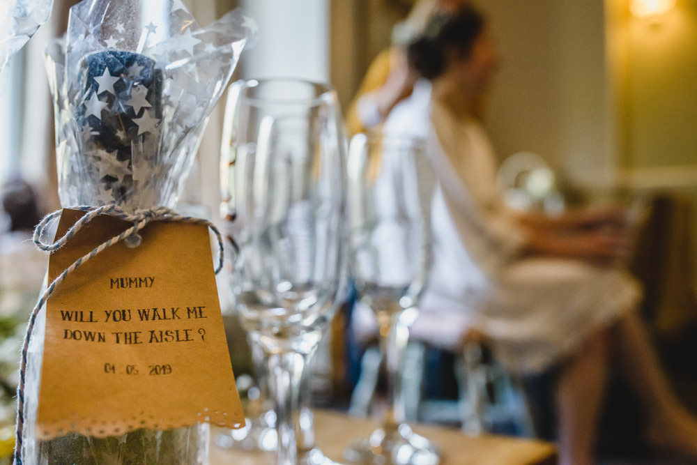 Gift Will You Walk Me Down the Aisle Hargate Hall Wedding Pixies in the Cellar