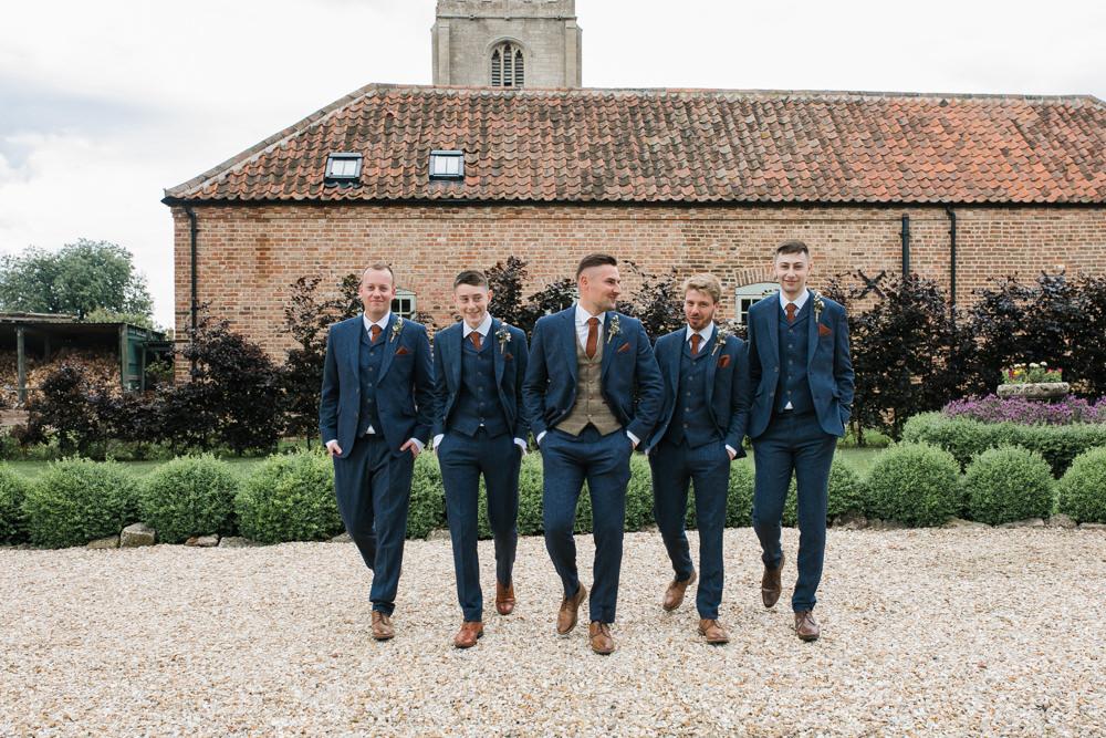 Tweed Suit Waistcoat Groom Groomsmen Lincolnshire Tipi Wedding Jessy Jones Photography