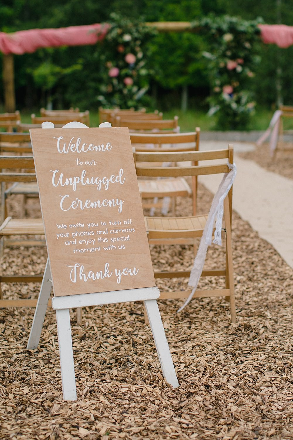 Unplugged Ceremony Sign Signage Signs Pet Wedding Ideas Vicky Plum Photography