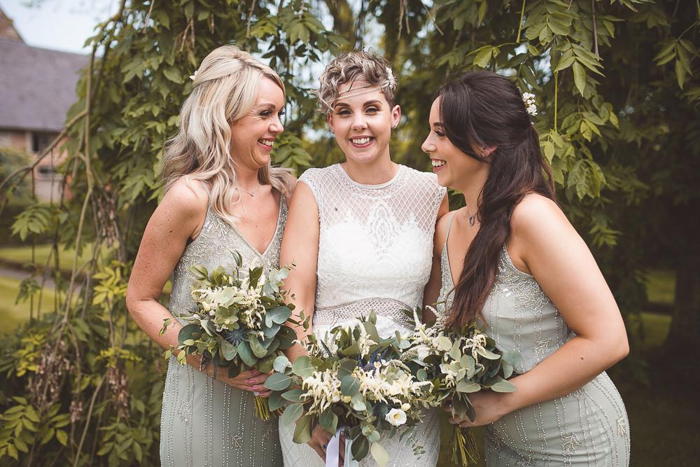 Bridesmaids Bridesmaid Dresses Sage Green Barn Wedding Shropshire Brightwing Photography