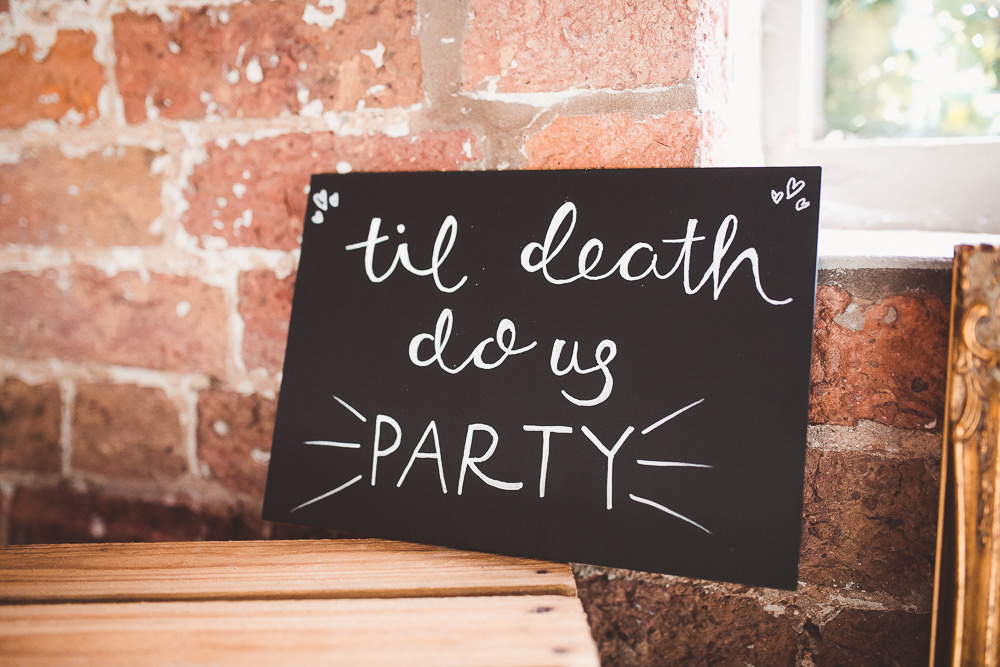 Sign Signage Quote Barn Wedding Shropshire Brightwing Photography