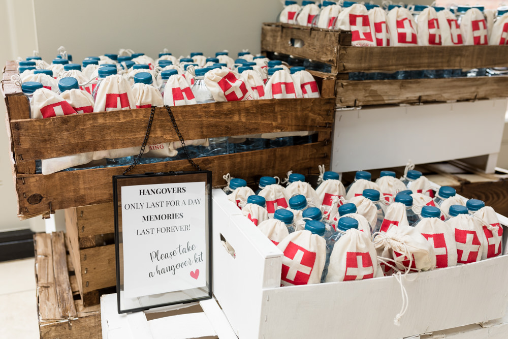 Hangover Kit Favours Botanical Barn Wedding Heather Jackson Photography