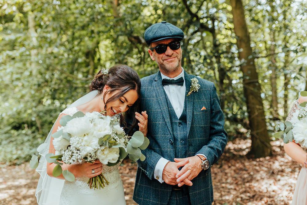 Bouquet Flowers Bride Bridal Rose Peony Greenery Foliage Hazlewood Castle Woodland Wedding Nicola Mackrill Photography