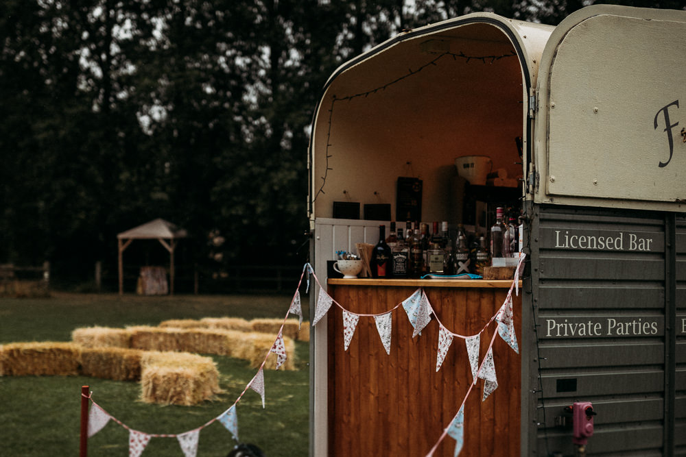 Horsebox Mobile Bar Drinks Van Hose Trailer Horsley Hale Farm Wedding Thyme Lane Photography