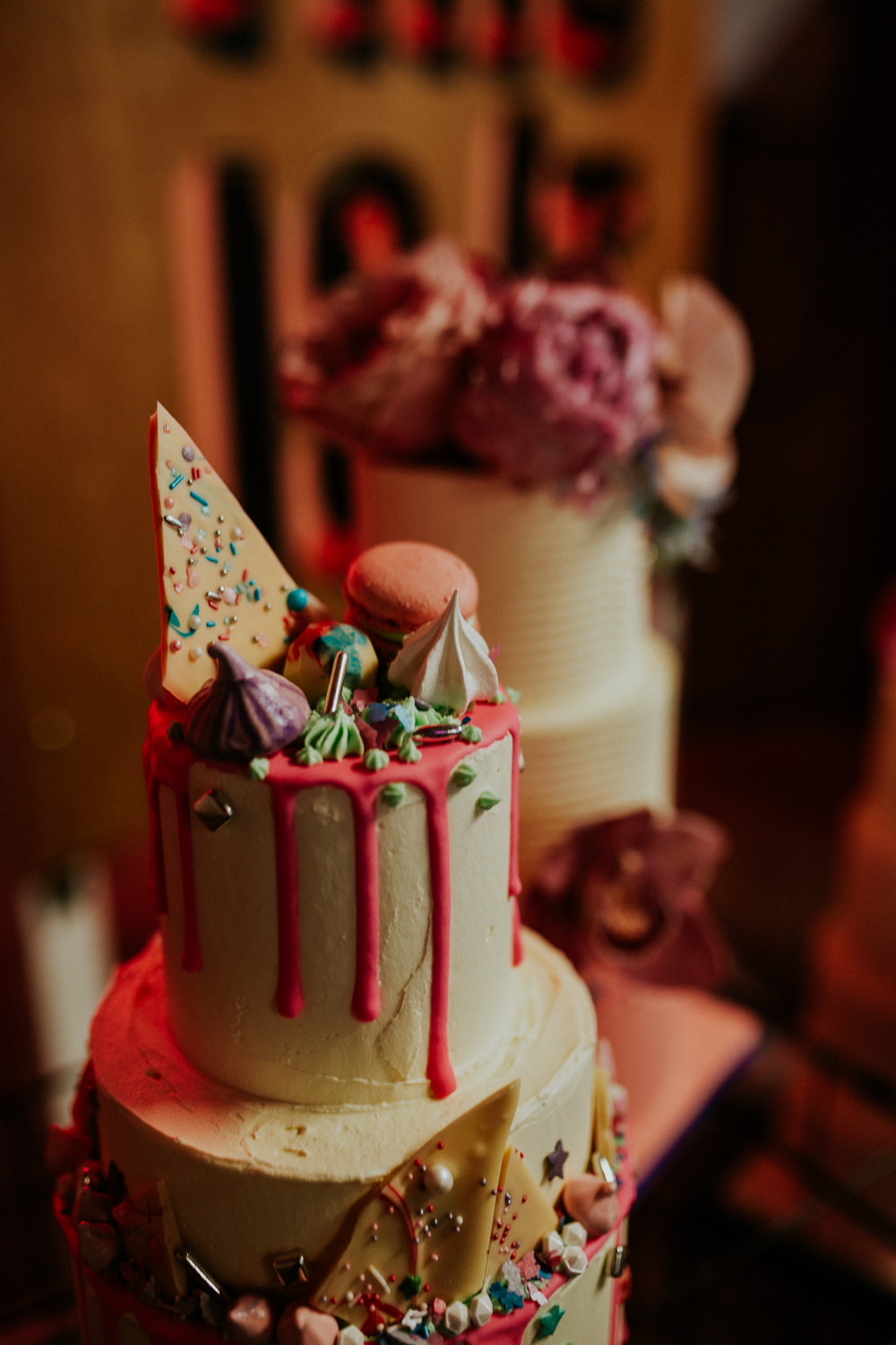 Cake Cakes Drip Macaron Neon Sign Wedding Ideas State Of Love and Trust Photography