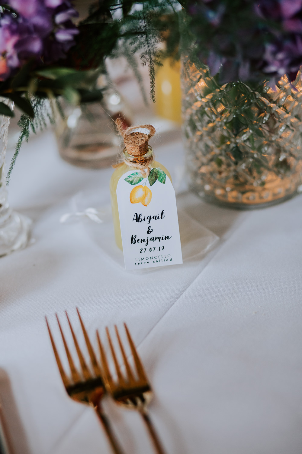 Limoncello Favours Favors Butley Priory Wedding Sally Rawlins Photography