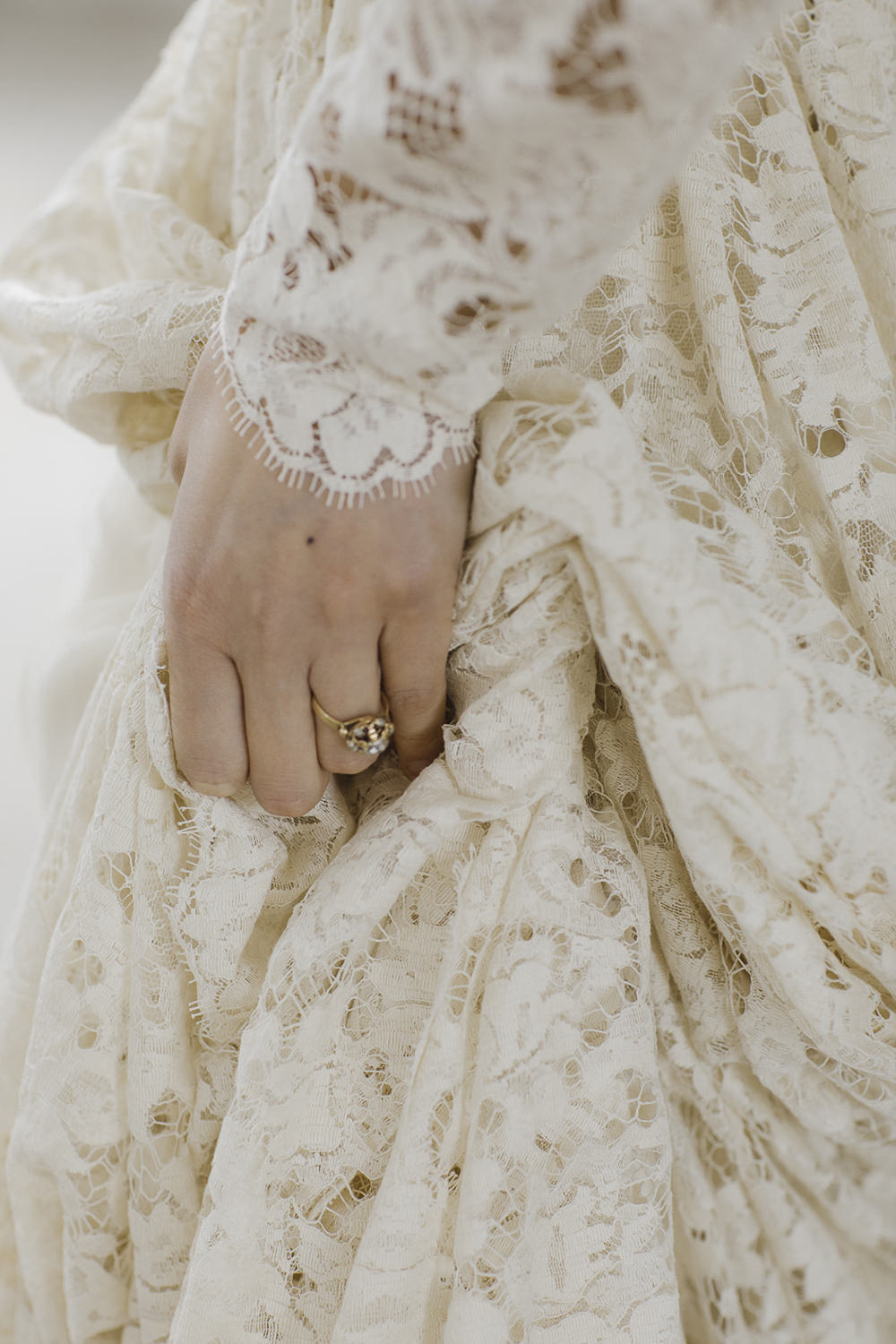 Lace Dress Gown Bride Bridal Long Sleeves Sara Concept Bride Ethereal Artistic Wedding Ideas Francesca Francesca