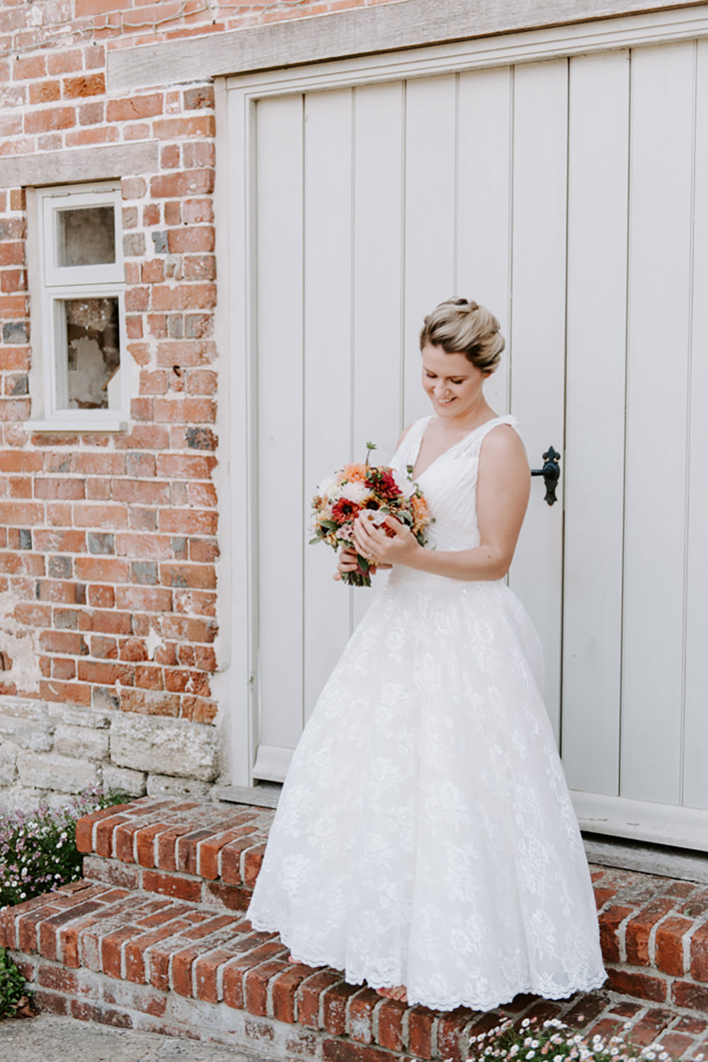 Bride Bridal Dress Gown Lace Straps Ethical Wedding Ideas Sadie Osborne Photography