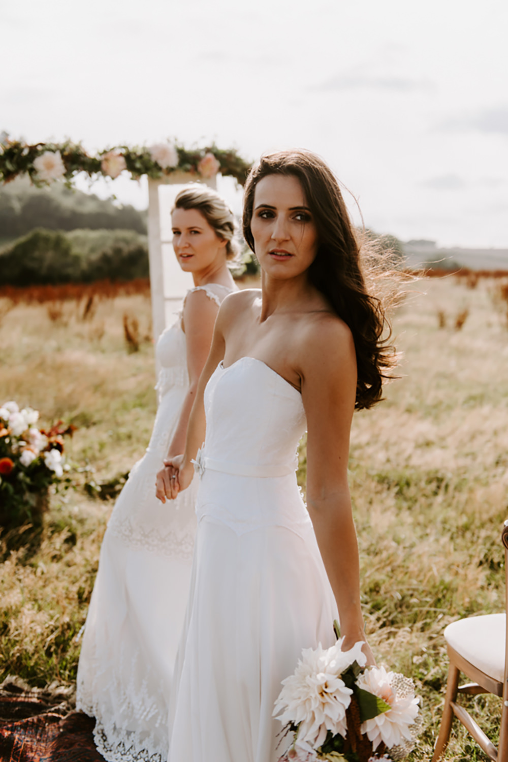 Bride Bridal Strapless Dress Gown Ethical Wedding Ideas Sadie Osborne Photography