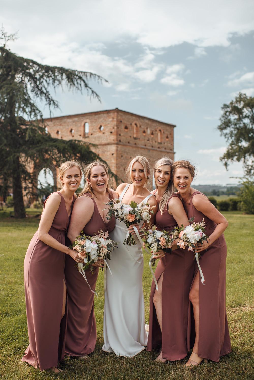 Bridesmaids Bridesmaid Dress Dresses Dusky Pink France Destination Wedding The Shannons Photography