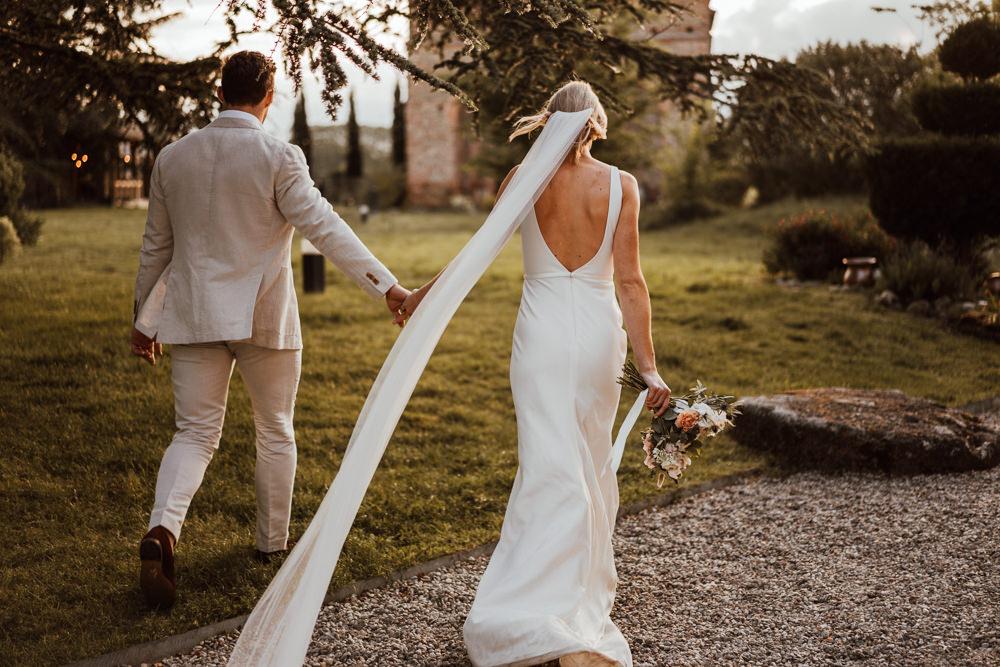 Bride Bridal Dress Gown Oui Sleek Simple Lace Veil France Destination Wedding The Shannons Photography