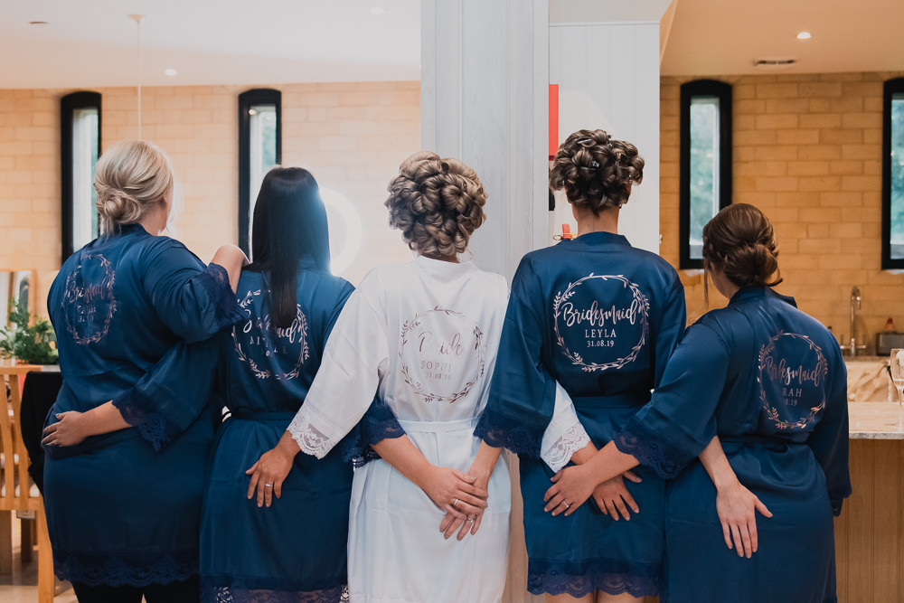 Bridesmaids Bride Bridal Gown Getting Ready Hexham Winter Gardens Wedding Leighton Bainbridge Photography