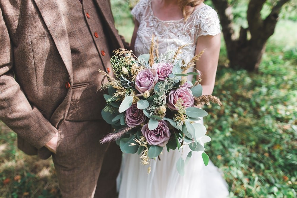 Bouquet Flowers Bride Bridal Greenery Foliage Pink Rose Eucalyptus Letchworth Wedding Milkbottle Photography