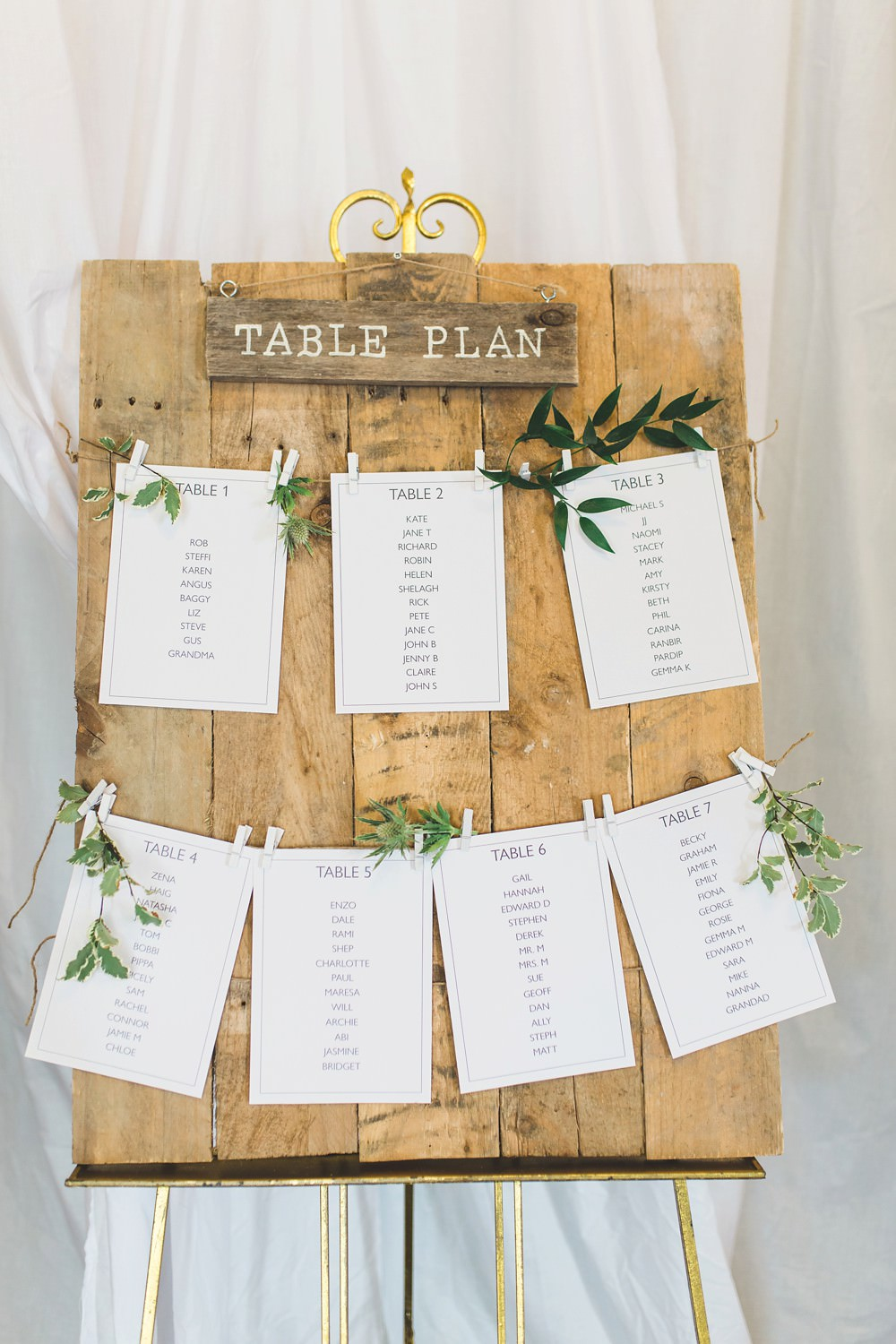 Wooden Seating Plan Table Chart Pegs Letchworth Wedding Milkbottle Photography