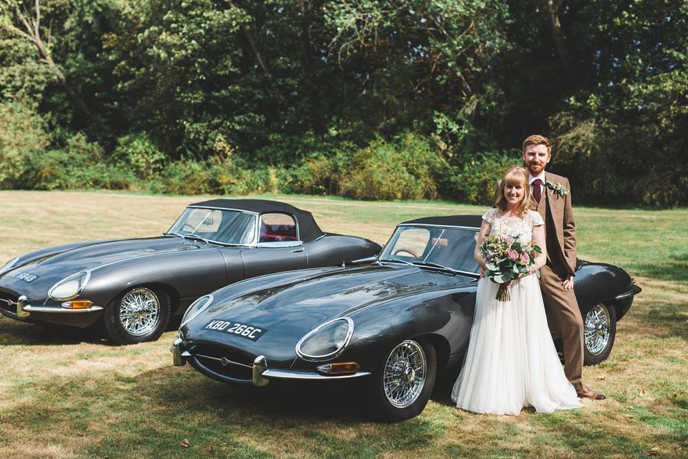 Jaguar Car Classic Transport Letchworth Wedding Milkbottle Photography