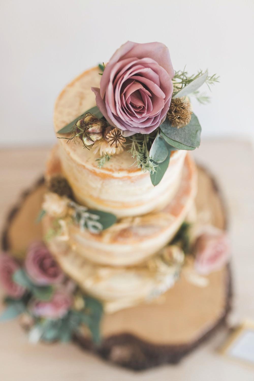 Semi Naked Cake Flowers Log Stand Letchworth Wedding Milkbottle Photography