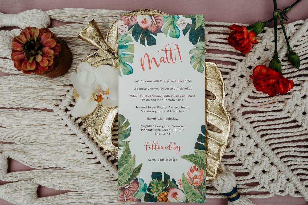 Jungle Palm Leaf Stationery Invite Invitation Tropical Wedding Ideas When Charlie Met Hannah