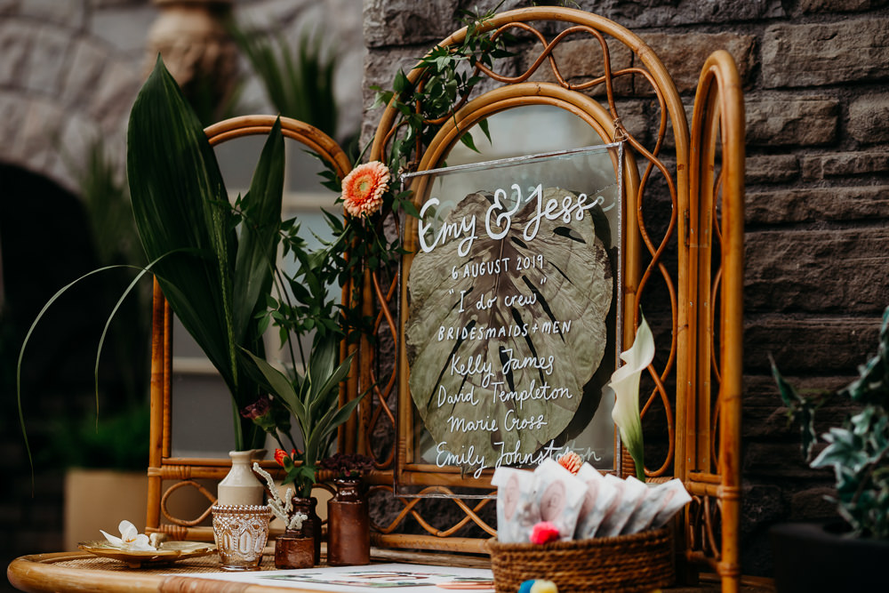 Mirror Calligraphy Sign Signs Signage Tropical Wedding Ideas When Charlie Met Hannah