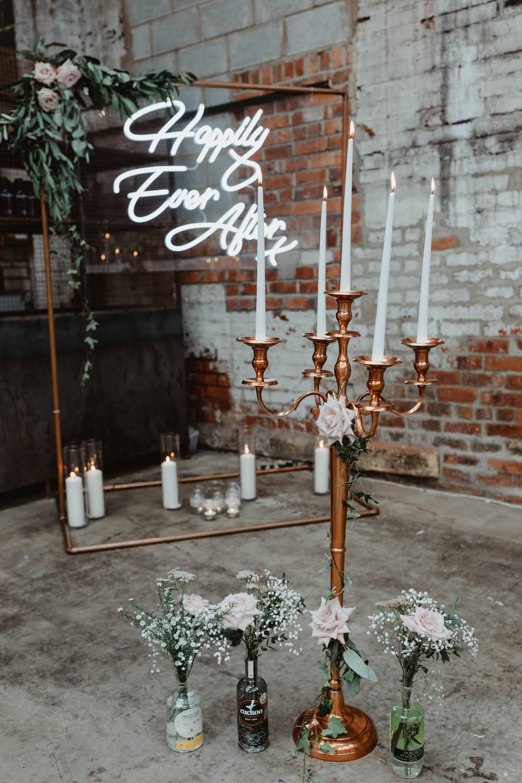 Candlesticks Flowers Decor Ceremony 92 Burton Road Wedding Stevie Jay Photography