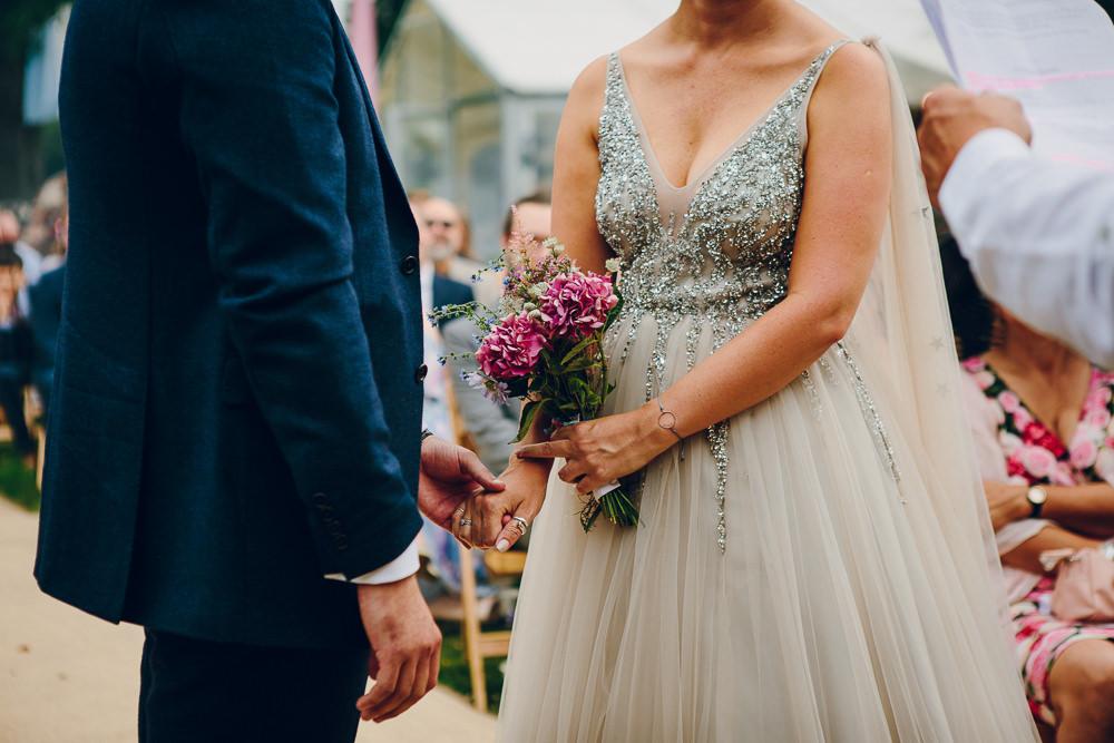 Dress Gown Bride Bridal Star Veil Glitter Tulle Princess Alderford Lake Wedding Amy B Photography