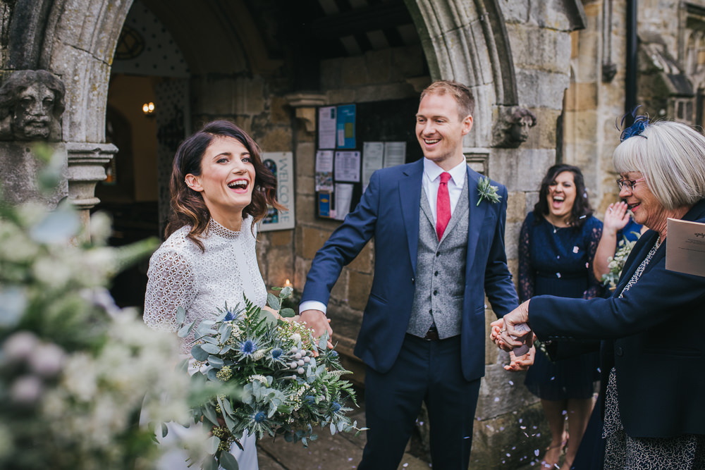 Confetti Throw Cosy Autumn Wedding Amy Jordison Photography