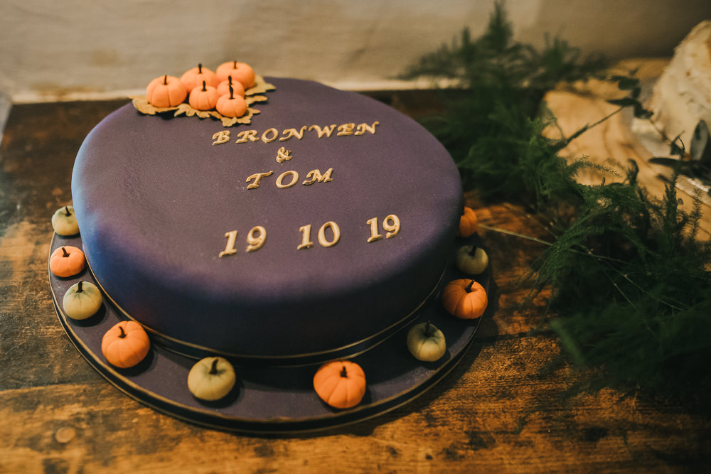 Pumpkin Cake Cosy Autumn Wedding Amy Jordison Photography