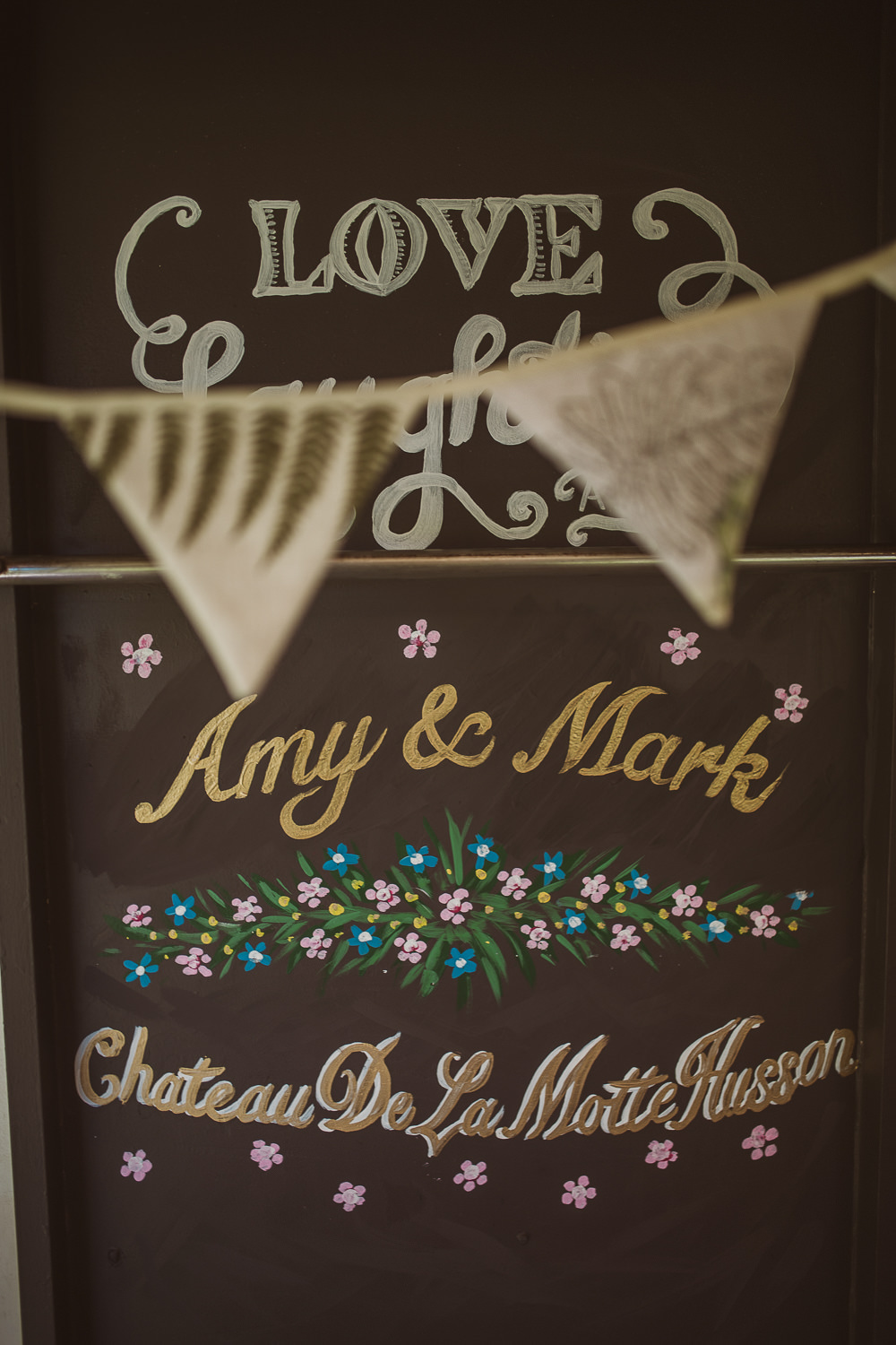 Chalk Board Sign Signage Escape To The Chateau Wedding The Springles