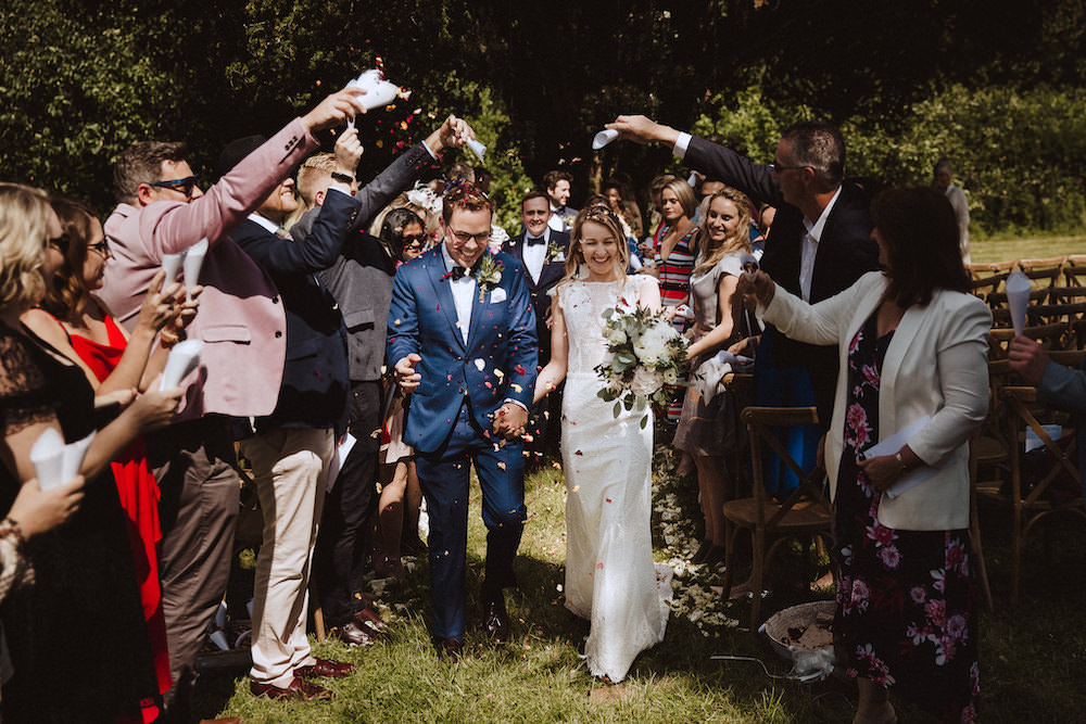 Confetti Throw French Chateau Wedding Red On Blonde Photography
