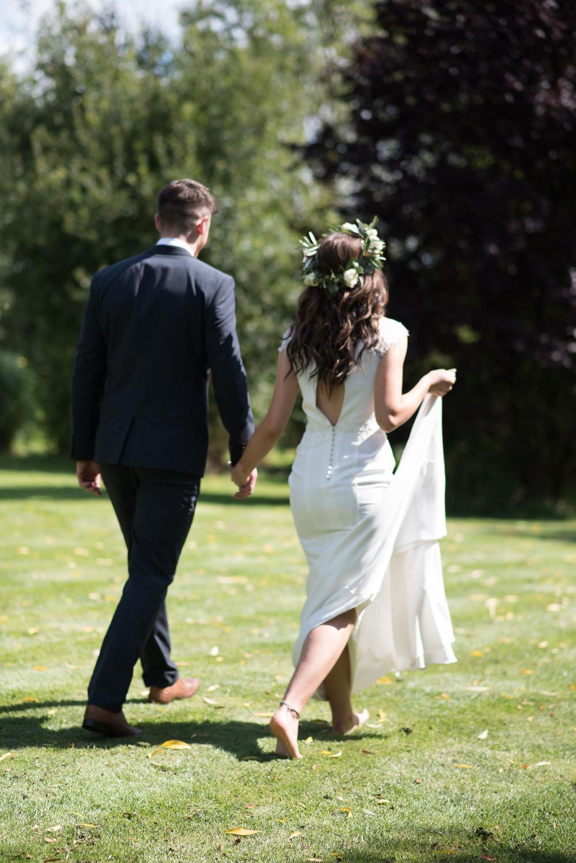 Bride Bridal Dress Gown Charlotte Balbier Key Hole Back Cap Sleeves Minimalist Wedding Ideas Nicola Belson Photography