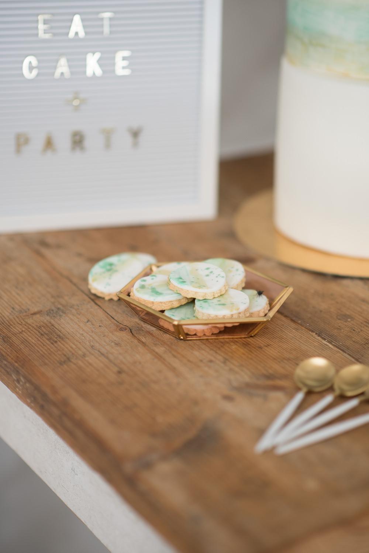 Cookies Dessert Table Minimalist Wedding Ideas Nicola Belson Photography
