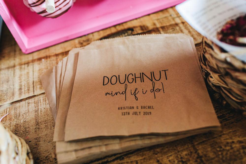 Donut Doughnut Bags Outbuildings Wedding Jessica O'Shaughnessy Photography