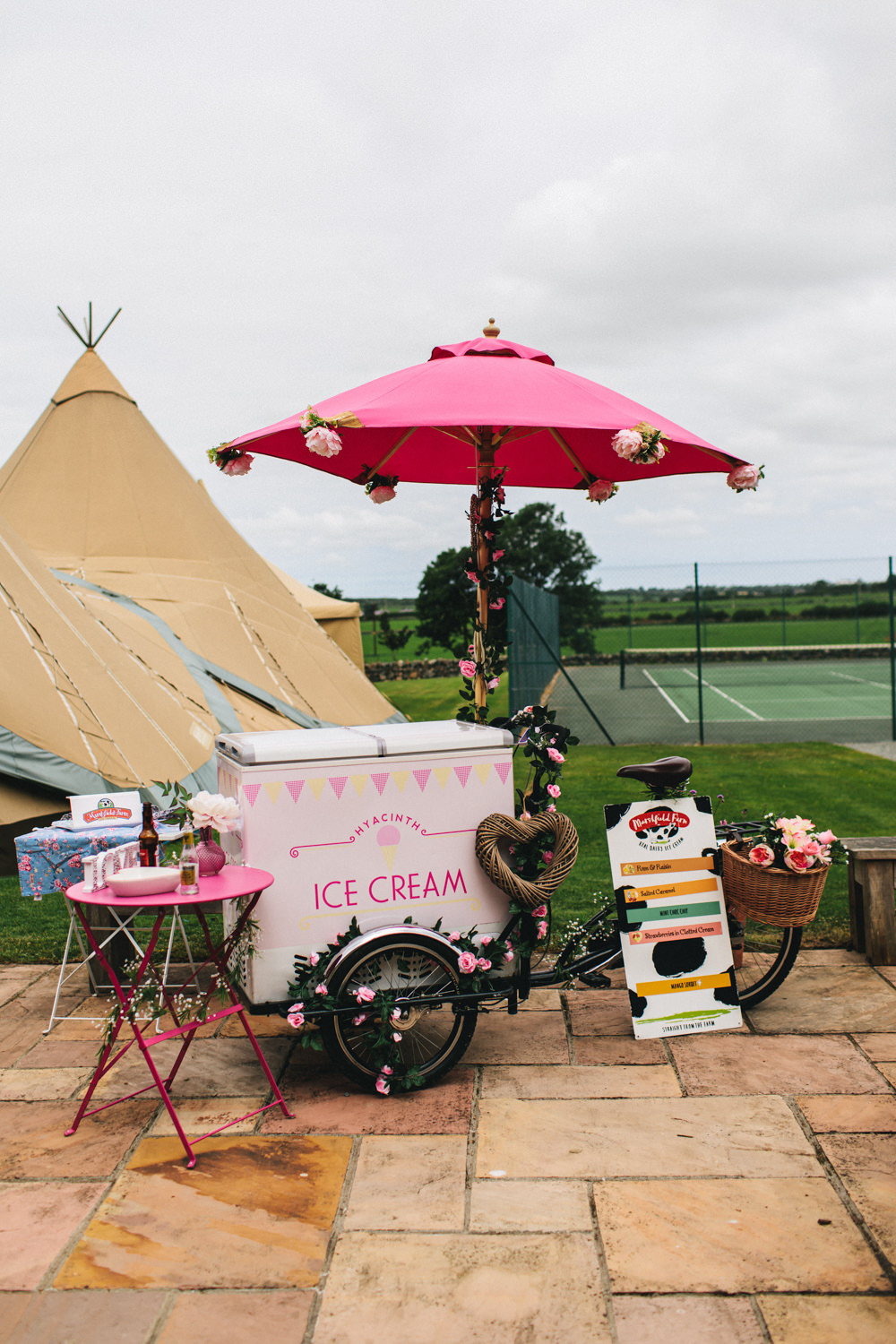 Ice Cream Cart Outbuildings Wedding Jessica O'Shaughnessy Photography