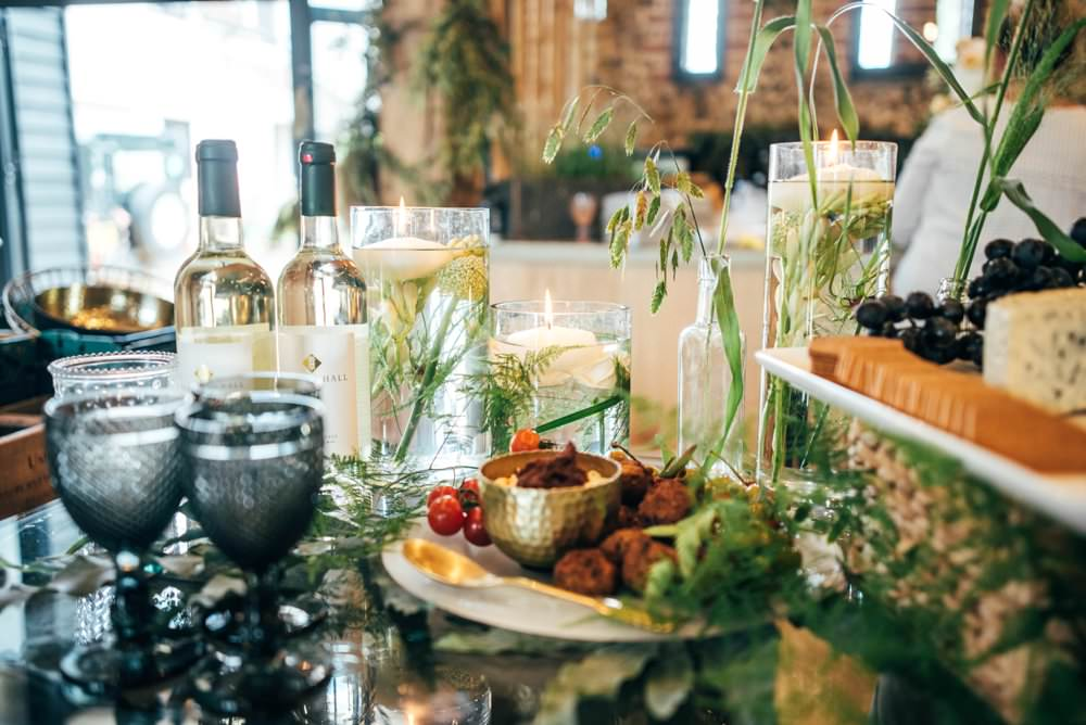 Food Grazing Table Buffet Sharing Platter Tuffon Hall Wedding Three Flowers Photography