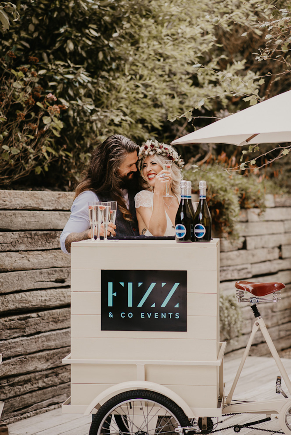 Drink Trike Bar Stand Station Unconventional Wedding Ideas Pierra G Photography