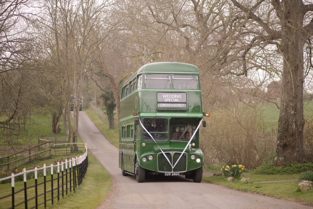 Green Vintage Bus Transport Watercolour Wedding Kerry Ann Duffy Photography