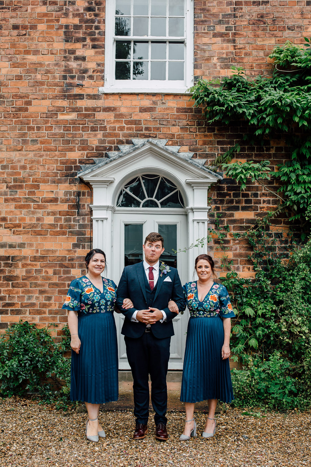 Bridesmaid Bridesmaids Dresses Classic Navy Blue Embroidery Barff Country House Wedding Sarah Beth Photo