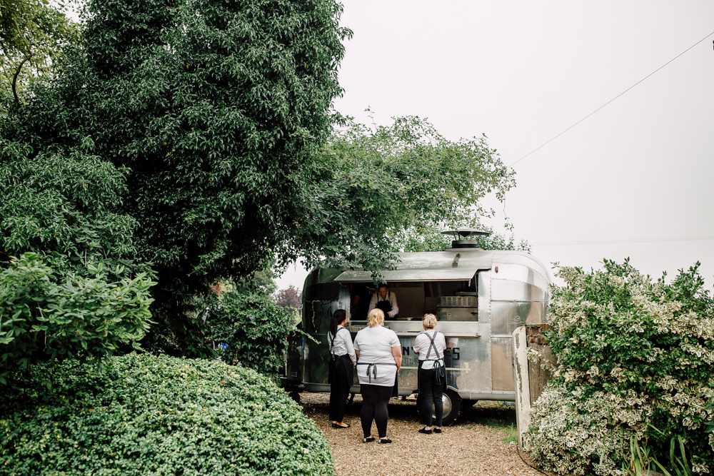 Food Truck Van Barff Country House Wedding Sarah Beth Photo