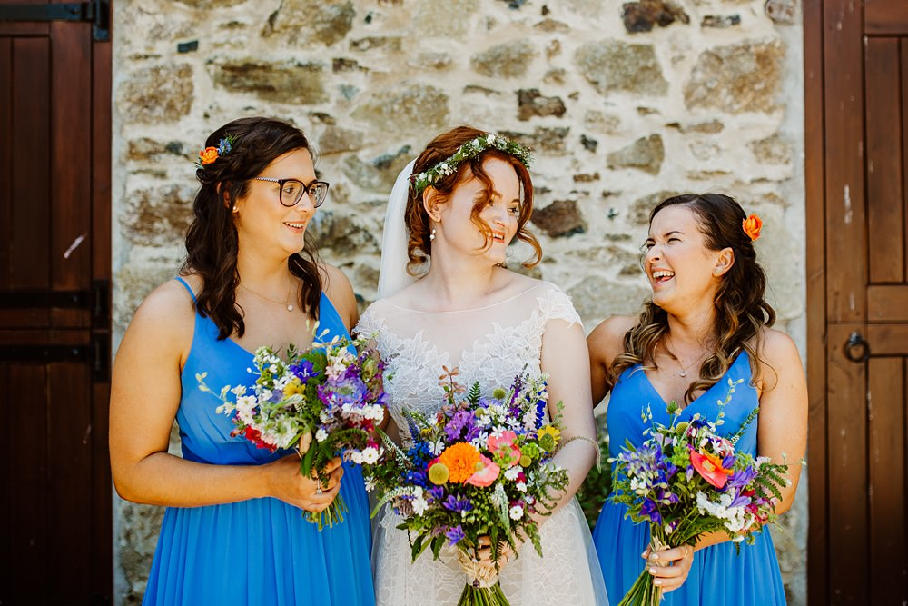 Bridesmaids Bridesmaid Dress Dresses Blue Canonteign Falls Wedding Holly Collings Photography