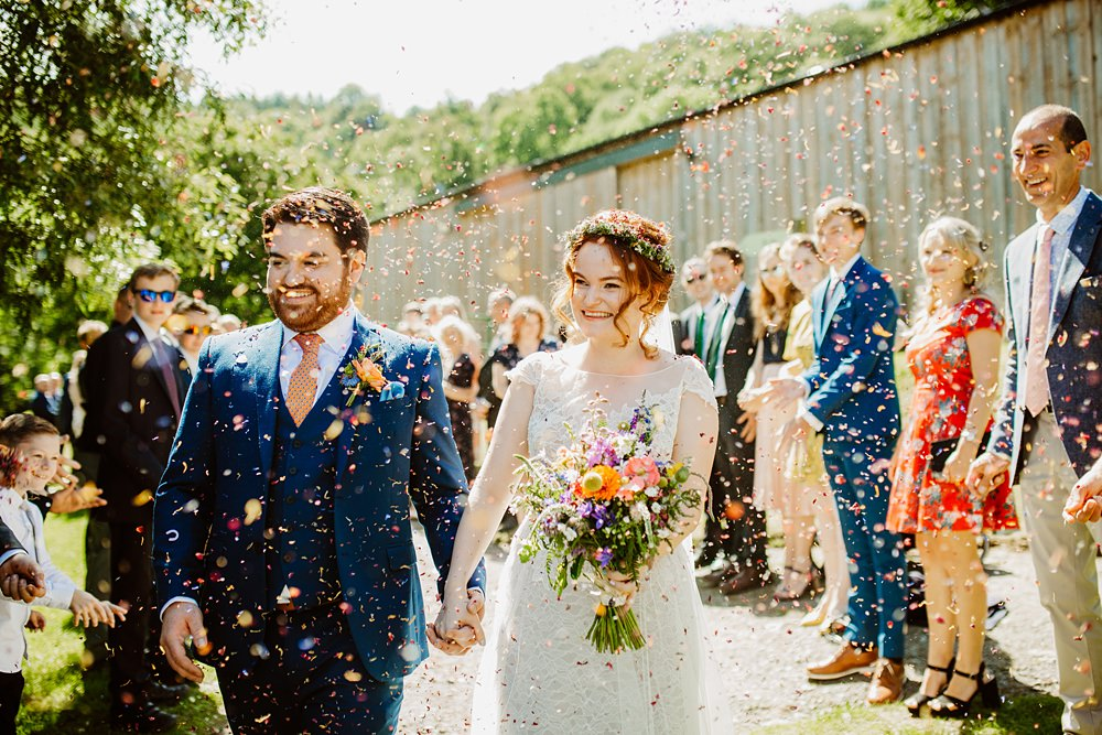Confetti Canonteign Falls Wedding Holly Collings Photography