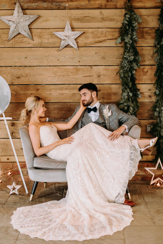 Stars Starry Backdrop Moon Celestial Wedding Ideas Christine Thirdwheeling