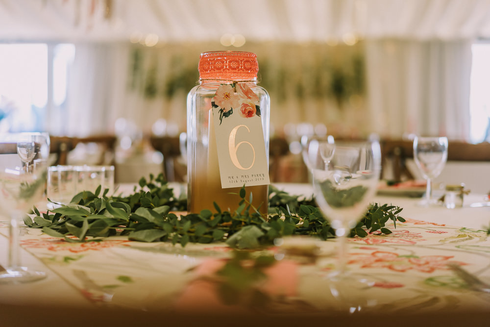 Jar Candle Centrepiece Table Number Crafty Village Hall Wedding Dot and Scolly Photography