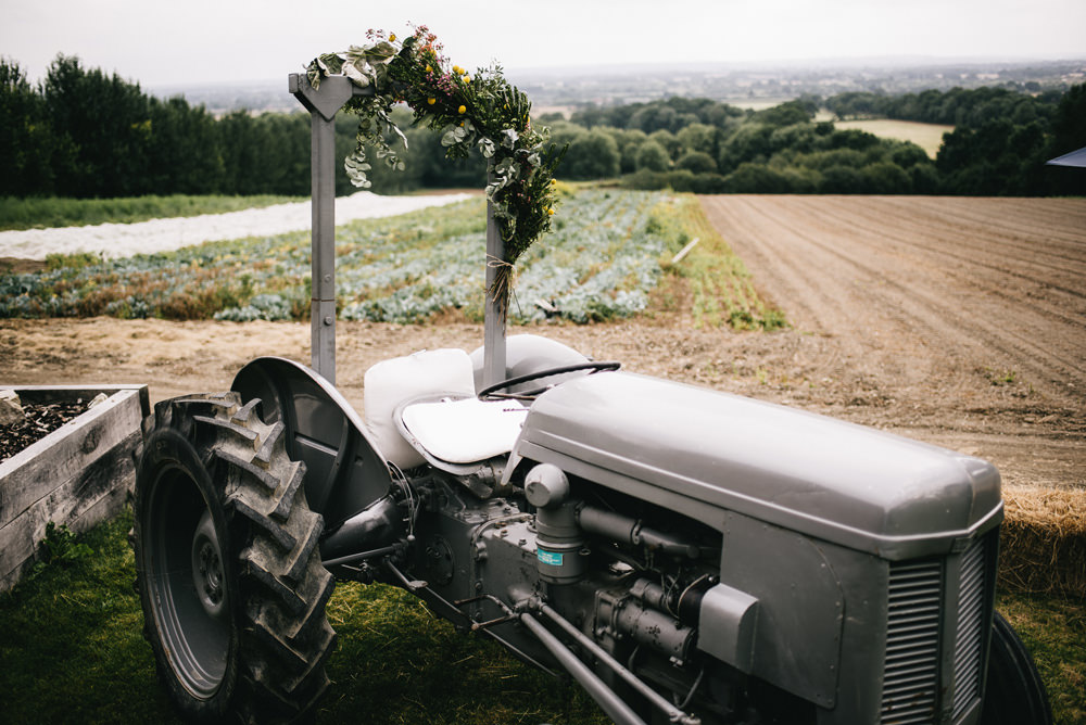 Tractor Photo Booth Farm Wedding Alex Tenters Photography