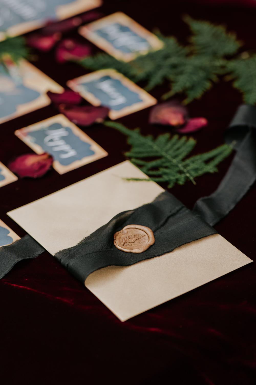 Wax Seal Stationery Envelope Snow White Wedding Inspiration Joasis Photography